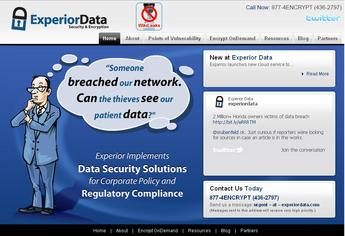 PHP Website for Data Security Solutions Provider 'ExperiorData'