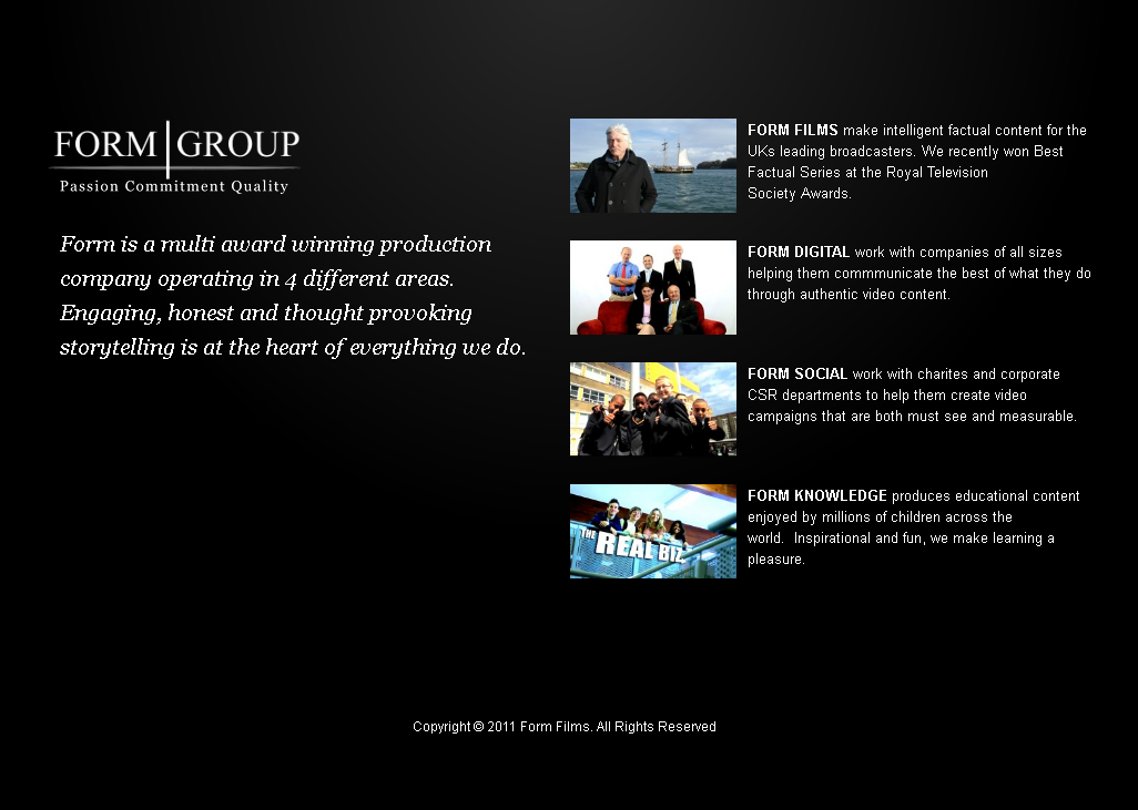 PHP Website for 'Form Group' - Video Listing Platform