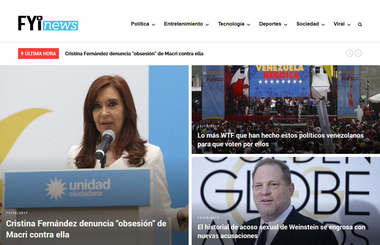 Enhancement of WordPress Based News Website- FYInews