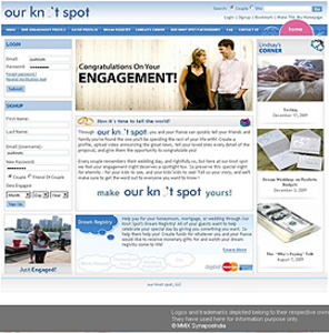 PHP Website for 'Our Knot Spot' – Social Networking Platform for Couples