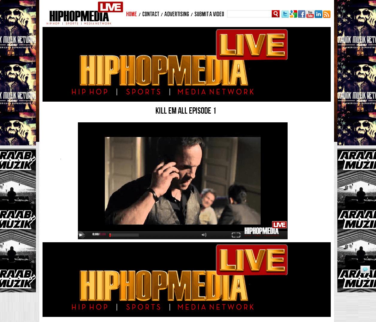 PHP Website for 'HIP HOP MEDIA' – Video Uploading & Sharing Platform