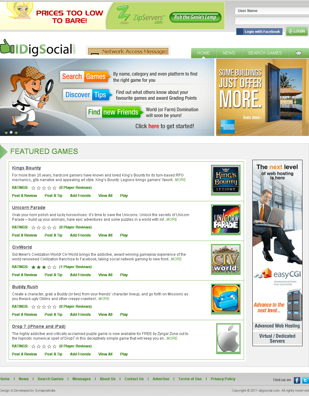 Website Whereby Users Can Review a Game and Rate Them