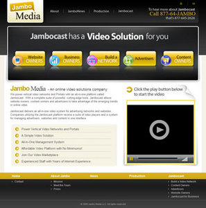 Website for Video Solutions Provider 'Jambo Media' Using PHP