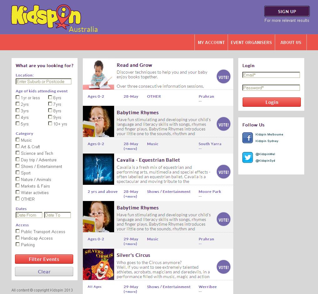 Website for eLearning Platform for Kids 'Kidspin' Using CakePHP