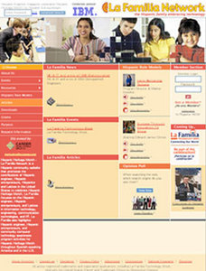 Website for Hispanic Community Services 'La Familia' Using PHP