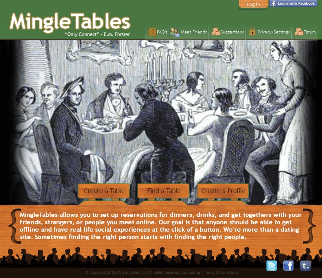 Website for Online Dating Platform 'Mingle Tables' in CakePHP