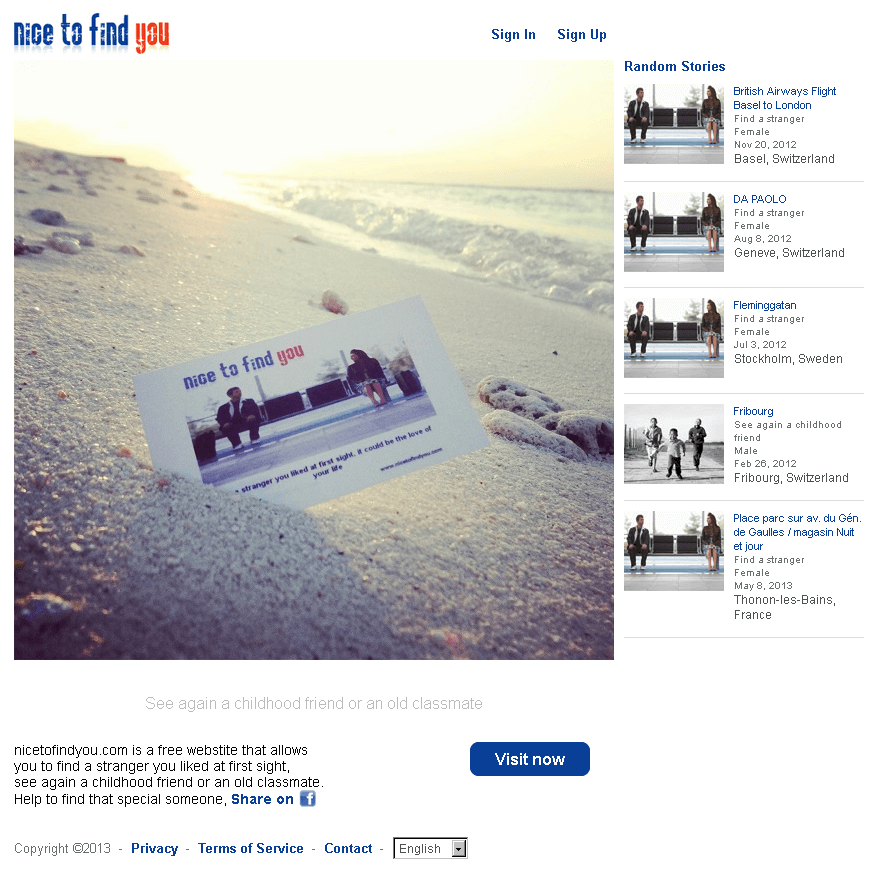 Website for Social Networking 'nicetofindyou' Using PHP