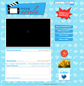 Website and Web Services for PhoneNovela Streaming Video App