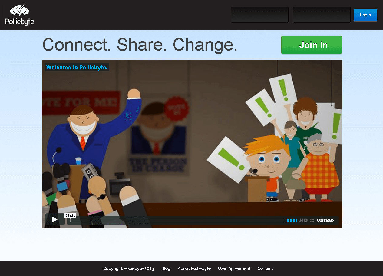 Website for Political Community 'Polliebyte' in PHP - Social Networking