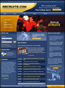 PHP Website for Sports 'Recruits' - Online Platform for Athletes