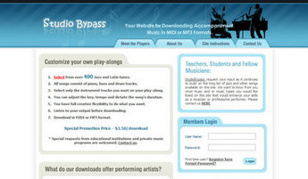 PHP Website for Media industry 'Studio Bypass' - Music Composer