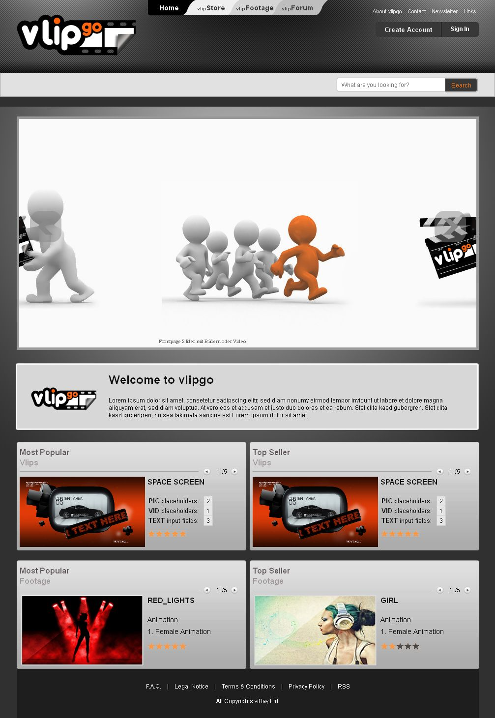Vlipgo - A Video Making & Purchasing Site