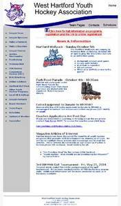 PHP Website for West Hartford Youth Hockey Association