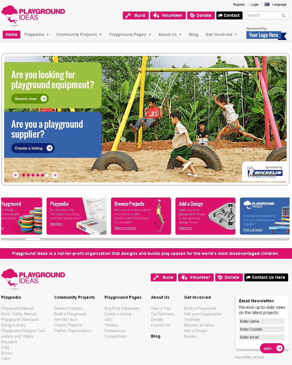 Drupal Website for NGO 'Playgroundideas' – Playground Service