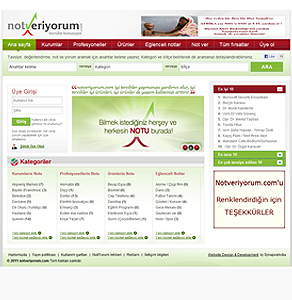 PHP Website for ''notveriyorum' - Products & Services Web Directory