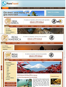 Website for Tour & Travel Operator 'Pure Travel' Using PHP