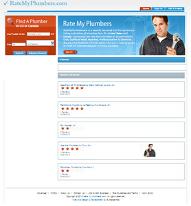 Website for Consumer 'Rate My Plumbers' Using PHP - Plumbing Services