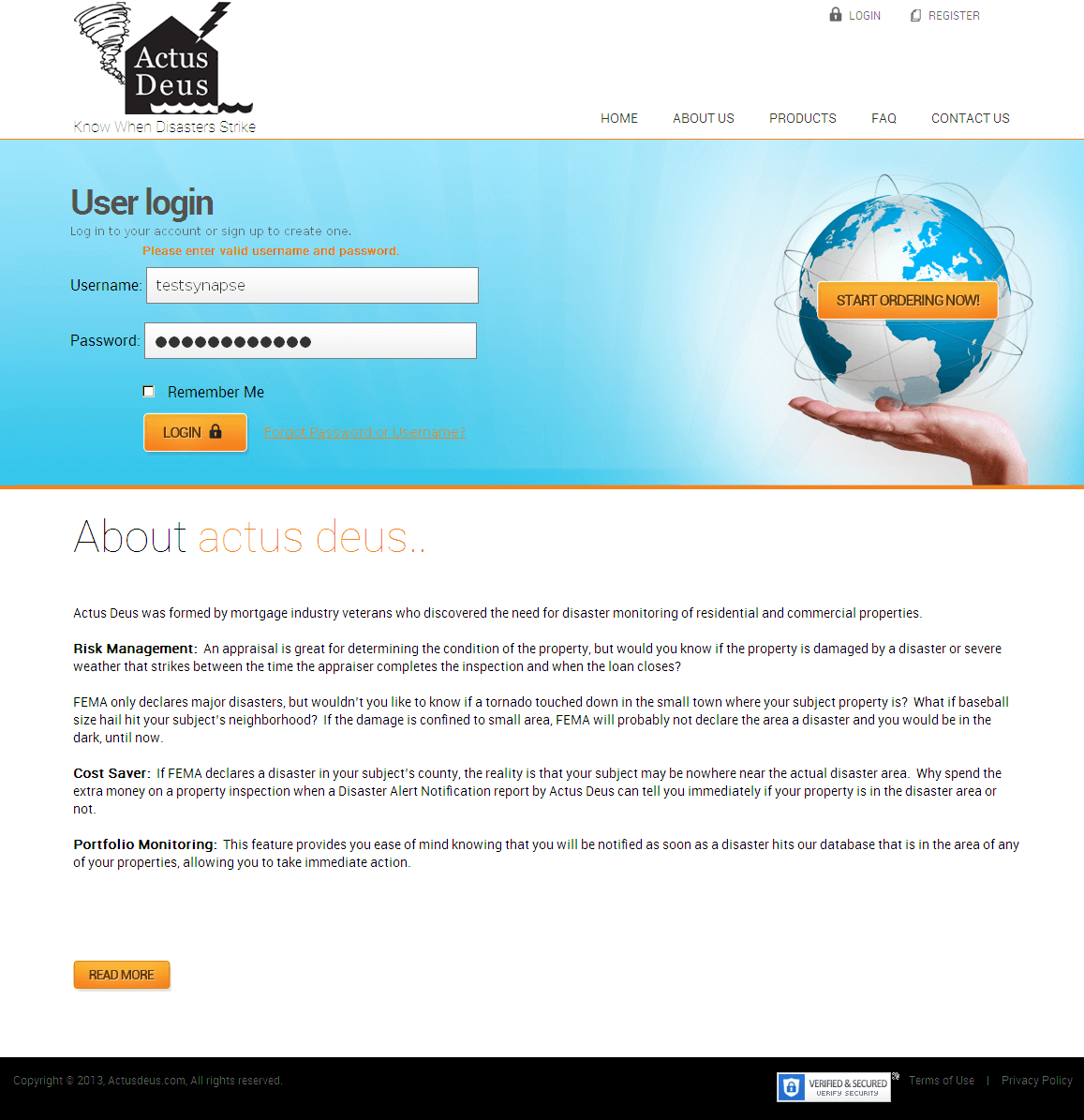 Development of a PHP Based Disaster Monitoring Website