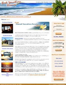 Website for Real Estate 'Best Vacation Homes' Using PHP - Vacation Property