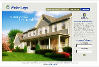 Website for Real Estate 'Web Village' Using PHP - Community Housing
