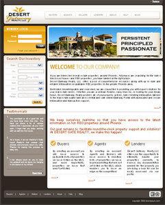 Real Estate Website in PHP for 'Desert Gateway' - Buy, Sell, & Finance