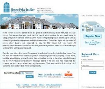 Real Estate Website in PHP for 'House Price Insider' - Rental Services