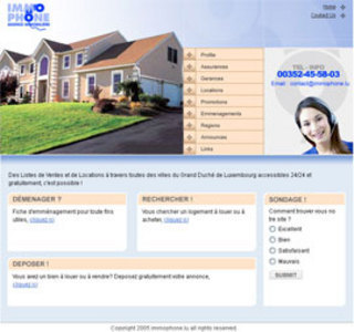 Real Estate Website in PHP for 'IMMOPHONE' - House Buying & Selling