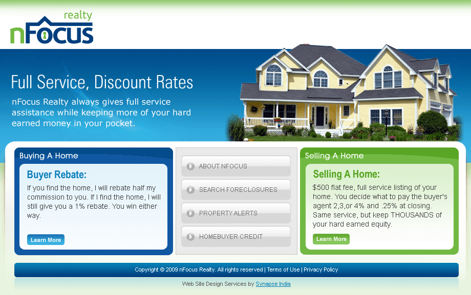 PHP Website for Real Estate 'RealtynFocus' - Home Buying & Selling