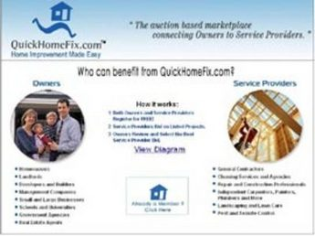 PHP Website for Real Estate 'QuickHomeFix' - Home Improvement Services