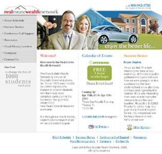 Website for Real Estate 'Wealth Network' Using PHP - Showcase Events