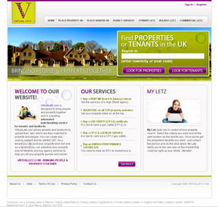 Real Estate Website in PHP for 'Virtual Letz' – Properties & Tenants Search
