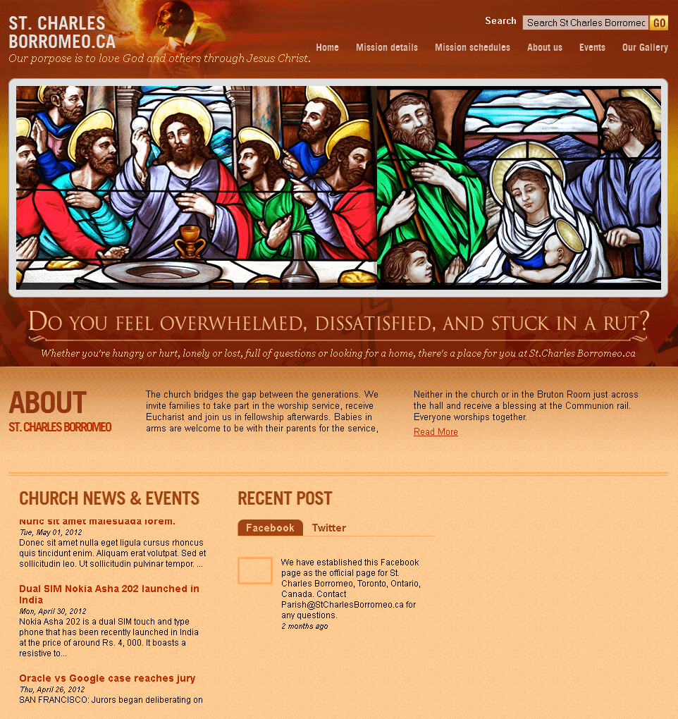 Religious Website in PHP for 'St. Charles Borromeo' - Church