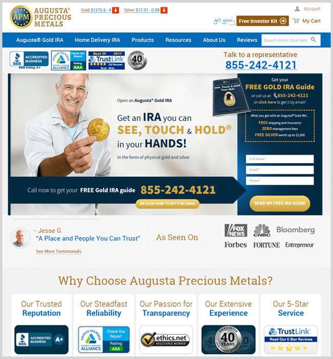 Design and Development an Online Store - Augusta Precious Metals