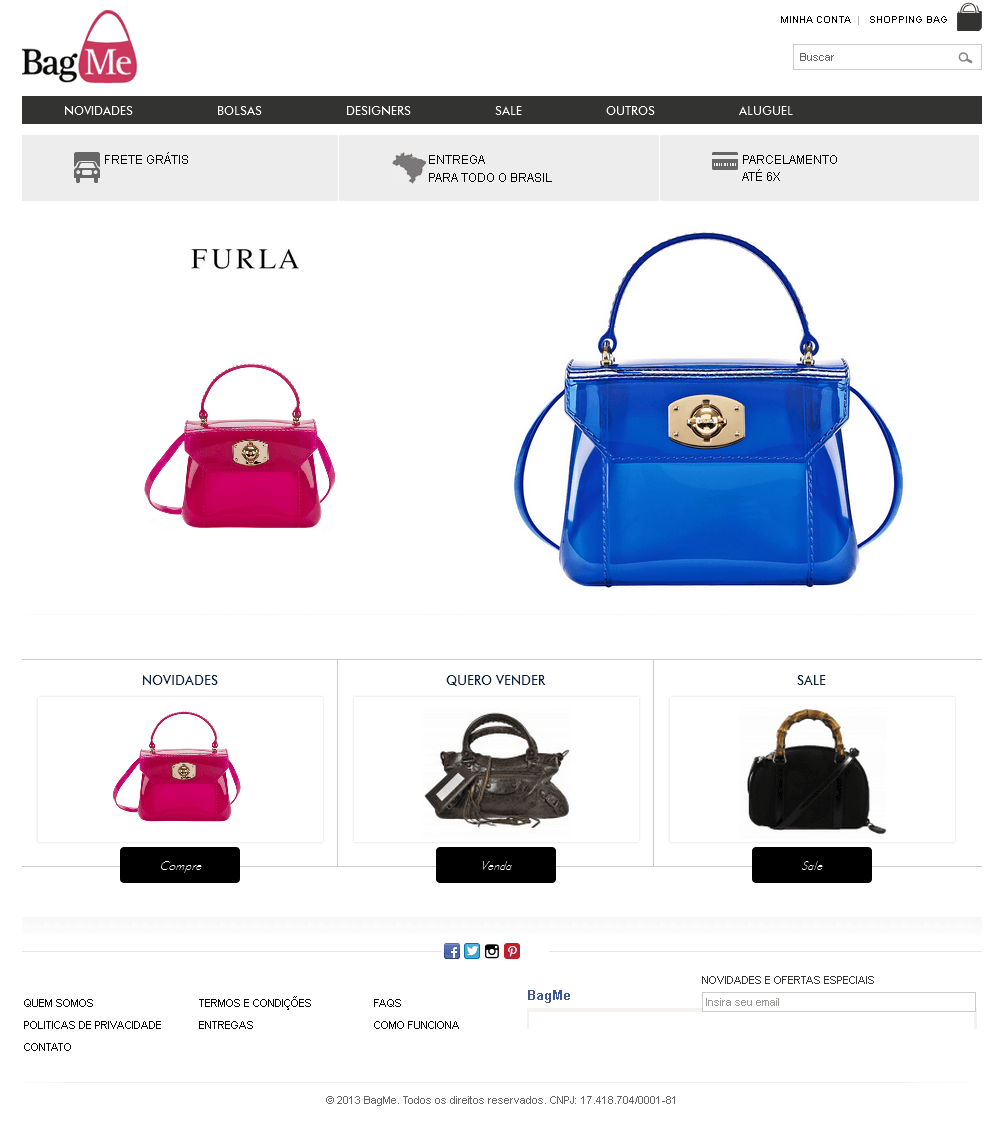 Development of Online Marketplace for Selling Fancy Bags - Bag Me