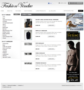 PHP eCommerce Website for Retail 'Fashion Vendue' - Online Fashion Store