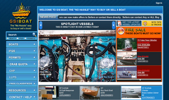 Website for Online Mediator Between Buyers and Sellers of Vessels