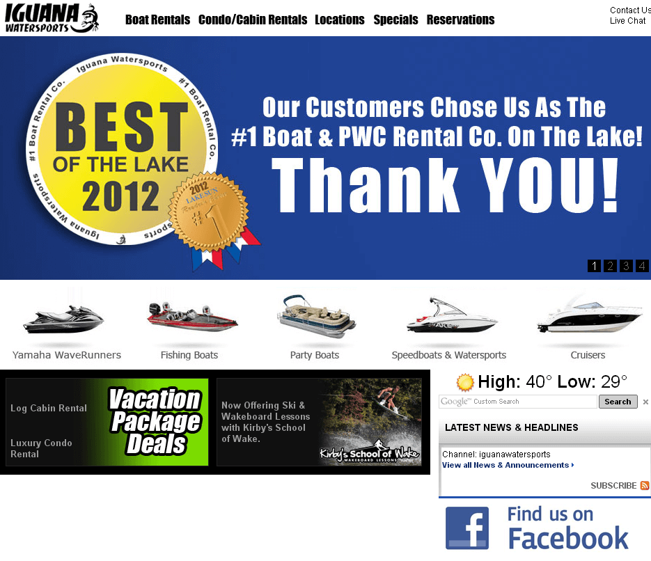 PHP Website for Boat Seller & Service Provider 'Iguana Marine Group'