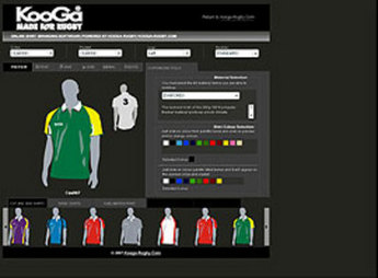 PHP Online T-shirt Designing Application for Retail 'Kooga'