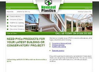 Website Development for PVC-U Products and Materials - Novaseal Plastic