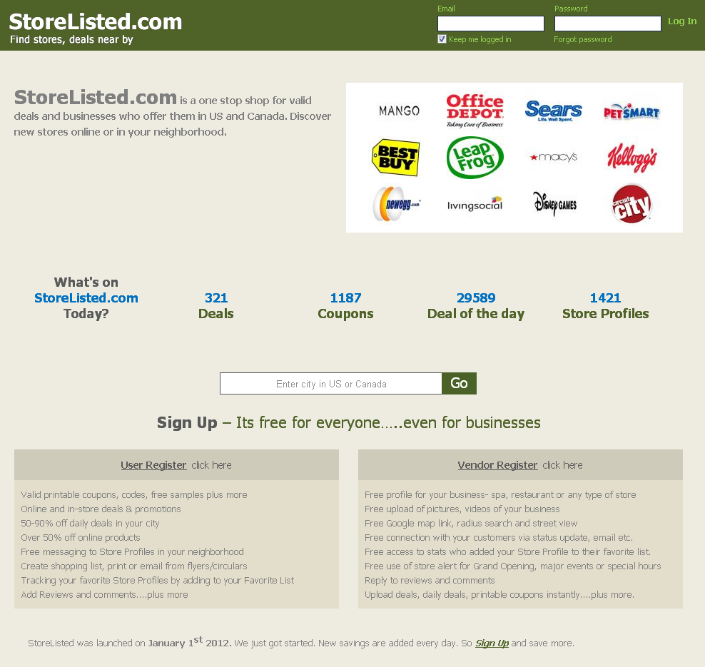 Storelited - Offering Flyers, Daily Deals and Discount Coupons
