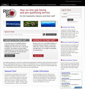 Website for Online Job Listing Services 'RRRS' Using PHP