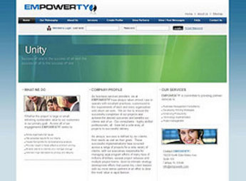 Website for Social Networking Service 'Empowerty' Using PHP