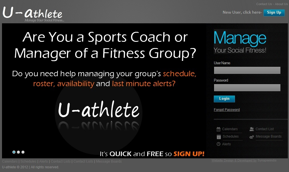 U-athlete - A Social Networking Site for Sports or Fitness Groups