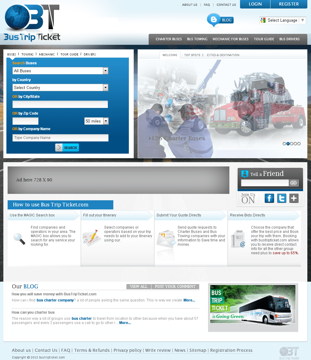 Website for Travel 'Bus Trip Ticket' Using PHP – Bus Search Engine