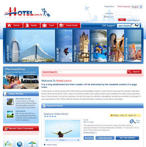 Travel Website in PHP for Hotels & Tourism Company