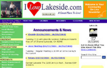 Website in PHP for 'I Love Lakeside' - Search Portal