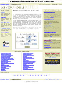 Travel Website in PHP for 'Las Vegas Hotels' - Hotel Booking Portal