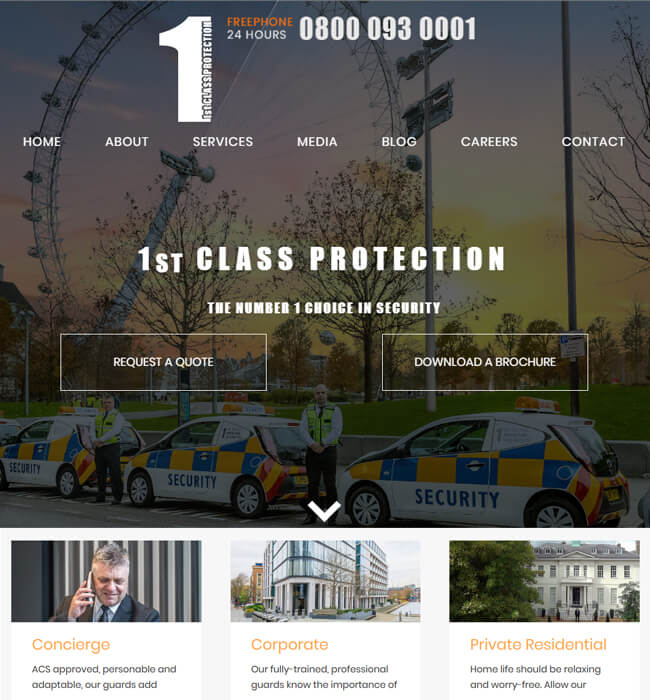 Python Website Maintenance for a Security Agency, UK - 1st Class Protection