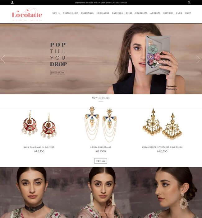 Shopify Store Development For Selling Fashion Accessories - LOCO LATTE