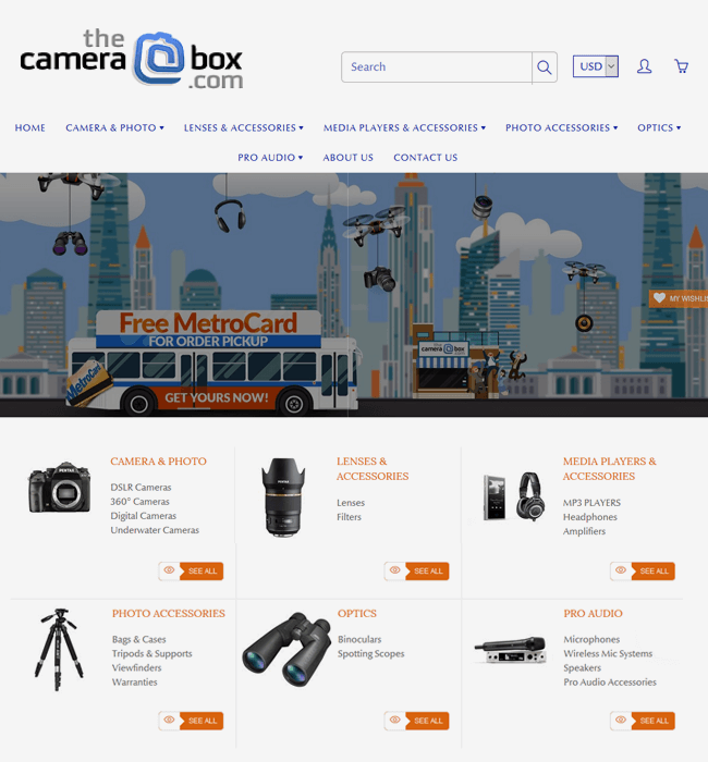 Shopify Store Development for a Camera & Accessories Dealer in USA
